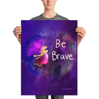 "'Be Brave' Buddha Doodles large wall print (18"" x 24"")"