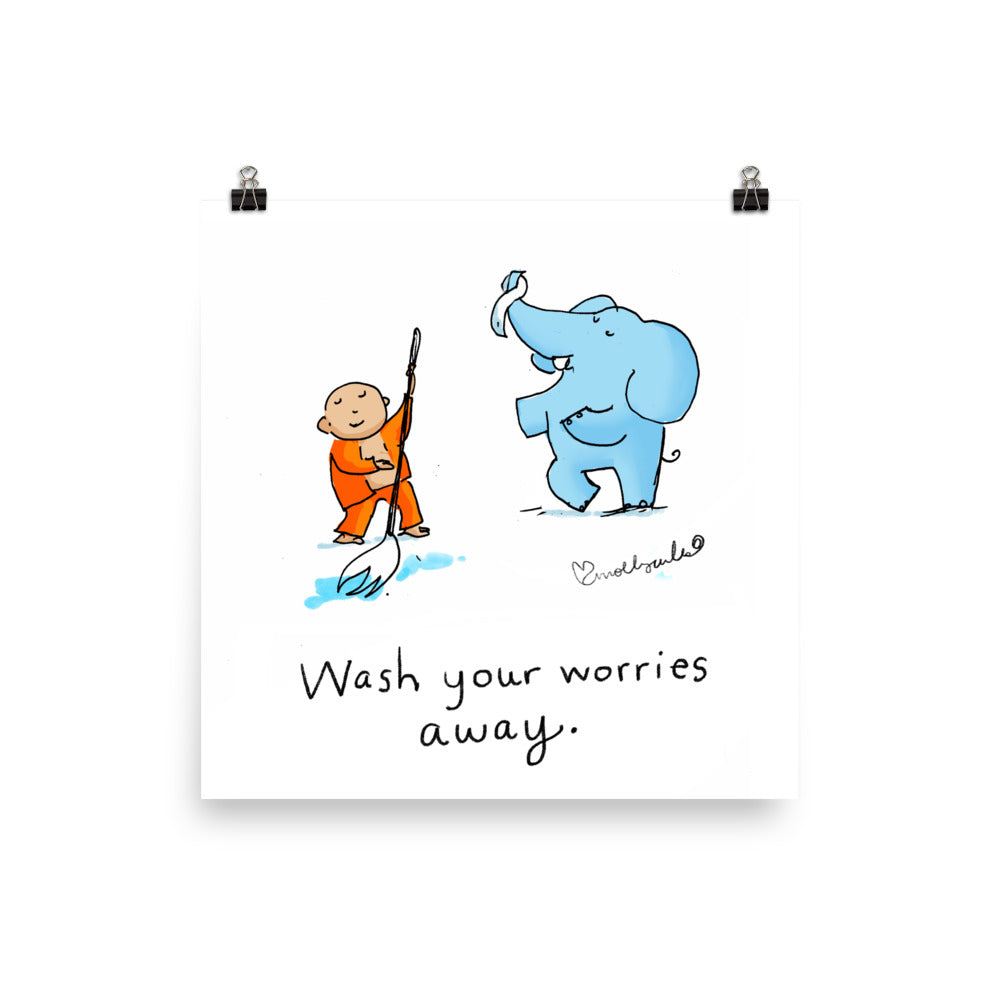 Art Print:  Wash Your Worries Away