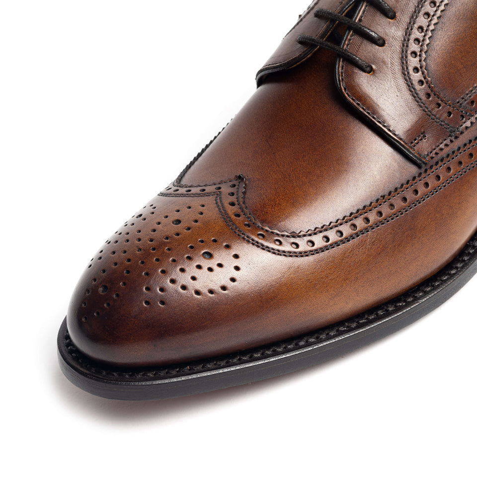 Berwick 1707 Brogues (Tan) - Camden Connaught Luxury Shoes