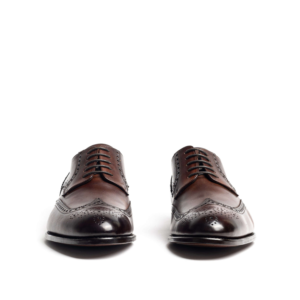 Carlos Santos Wingtip Brogues - Camden Connaught Luxury Shoes