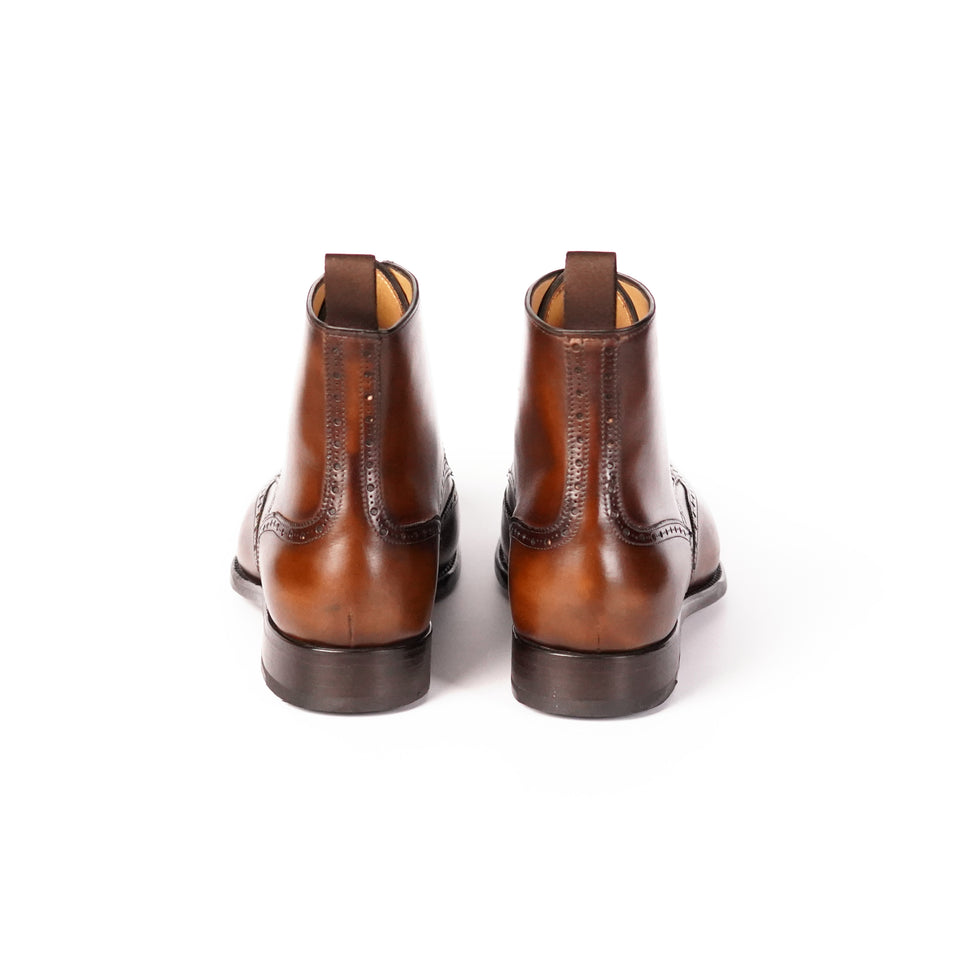 Carlos Santos Ankle Brogue Boots (Algarve) - Camden Connaught Luxury Shoes
