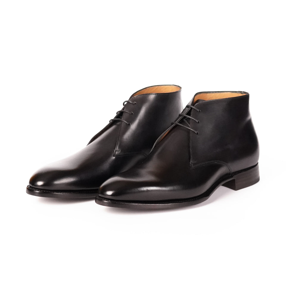 Carlos Santos Chukka Boots (Noir Shadow) - Camden Connaught Luxury Shoes