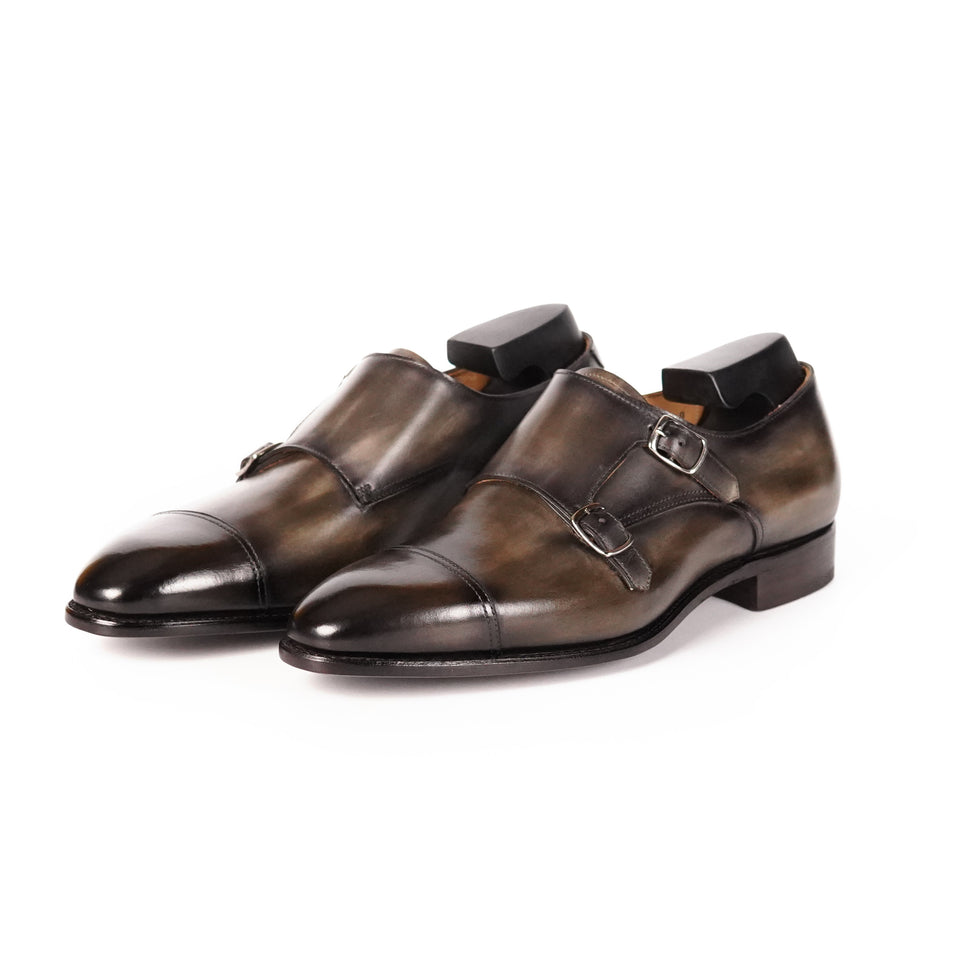 Carlos Santos Double Monk Strap (Bosco) - Camden Connaught Luxury Shoes
