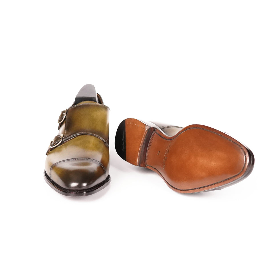 Carlos Santos Double Monk Strap (Florest Shadow) - Camden Connaught Luxury Shoes