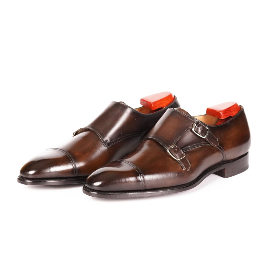 Carlos Santos Double Monk Strap (Coimbra) - Camden Connaught Luxury Shoes