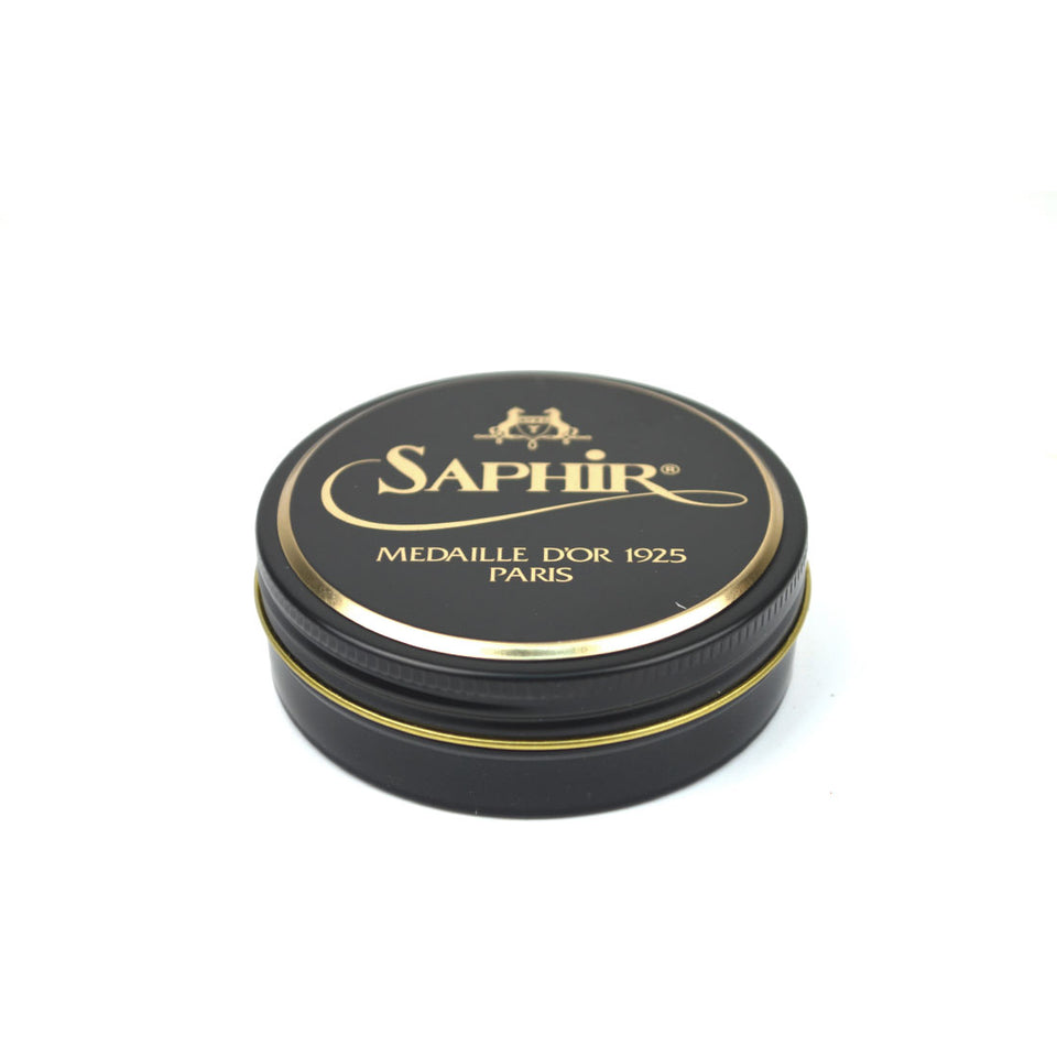 Saphir Medaille D'Or Pate De Luxe Wax Polish - Black - Camden Connaught Luxury Shoes