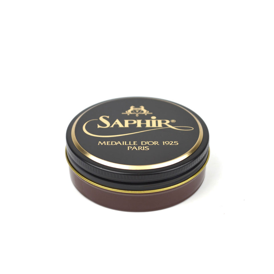 Saphir Medaille D'Or Pate De Luxe Wax Polish - Medium Brown - Camden Connaught Luxury Shoes