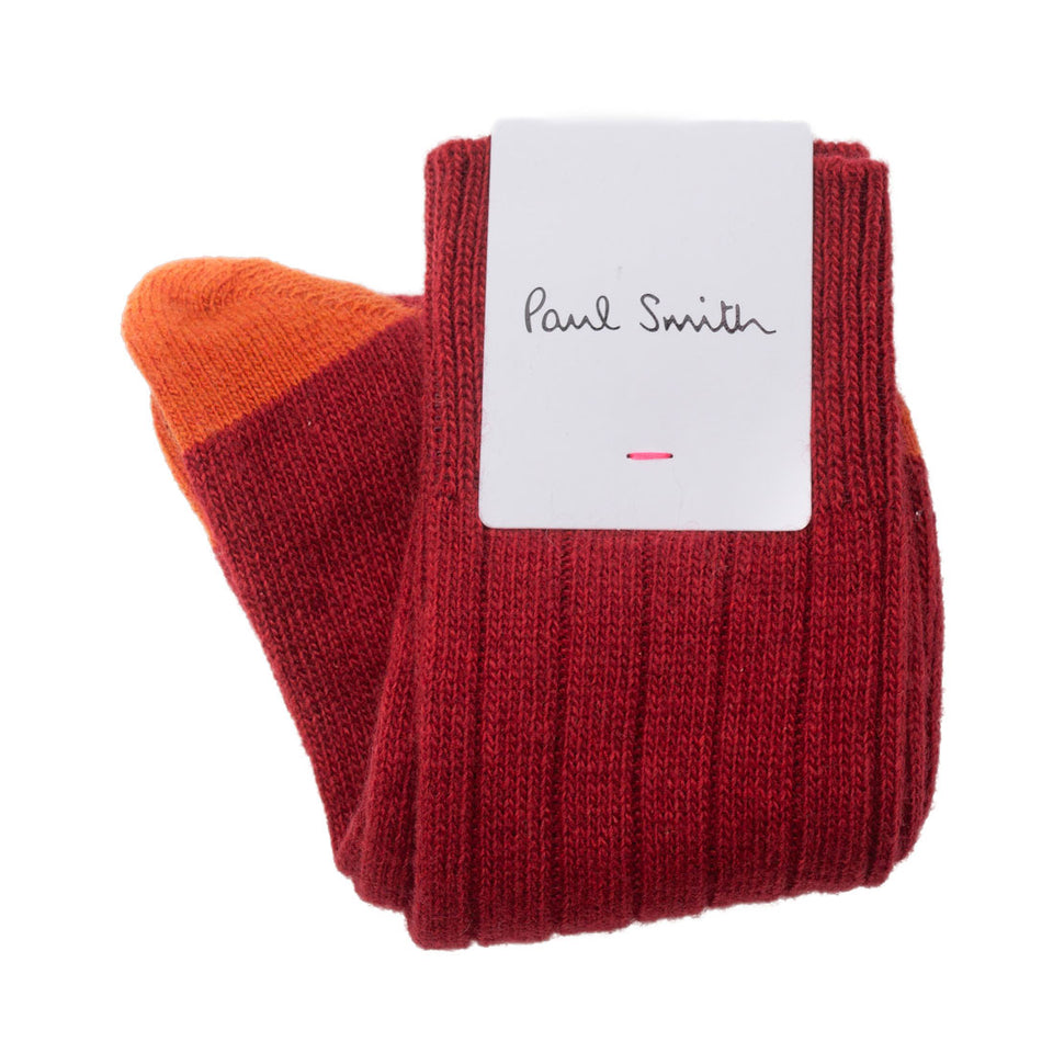Paul Smith Wool Socks in Copper Red - Camden Connaught Luxury Shoes