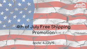 4th of July Free Shipping Promotion now thru July 4th. Type in code - 4JULY19 - at checkout