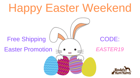 Easter Free Shipping Promotion thru April 21st.  Type in - EASTER19 - at checkout.