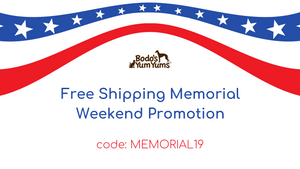 Memorial Weekend Free Shipping Promotion now thru May 27th.  Type in code - MEMORIAL19 - at checkout