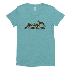 Women's American Apparel Tri-Blend T-Shirt Brown Print