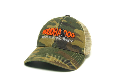 Buddha Dog Rescue & Recovery Camo Trucker Hat