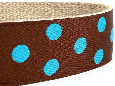 Dotty Brown/ Turquoise 1.5""