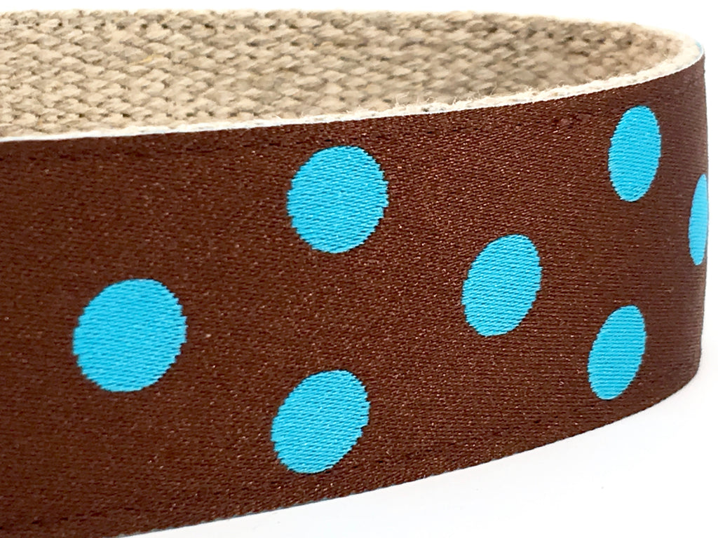 Dotty Brown/ Turquoise