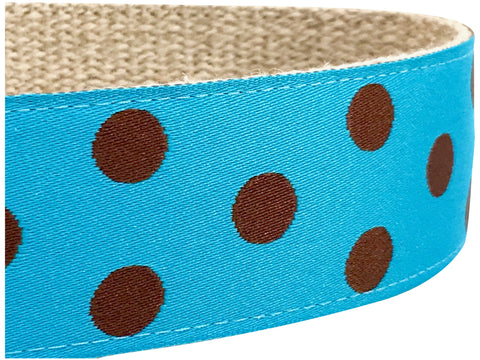 Dotty Turquoise/ Brown 1.5""