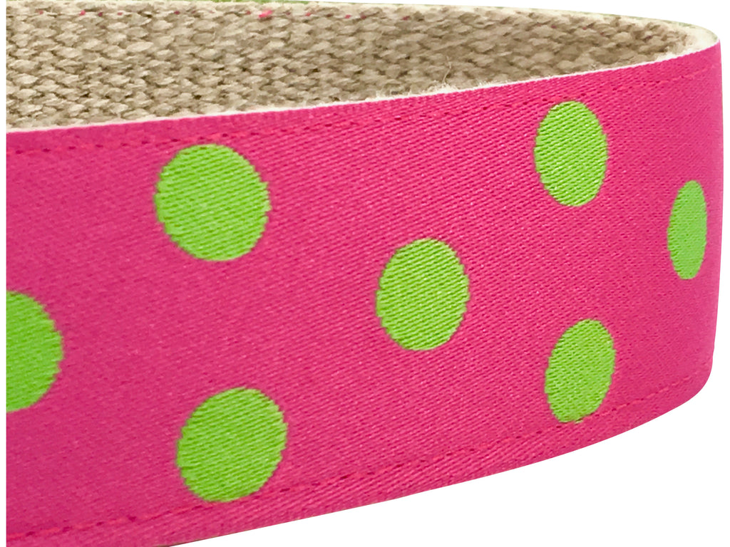 Dotty Pink/ Green Apple 1.5""
