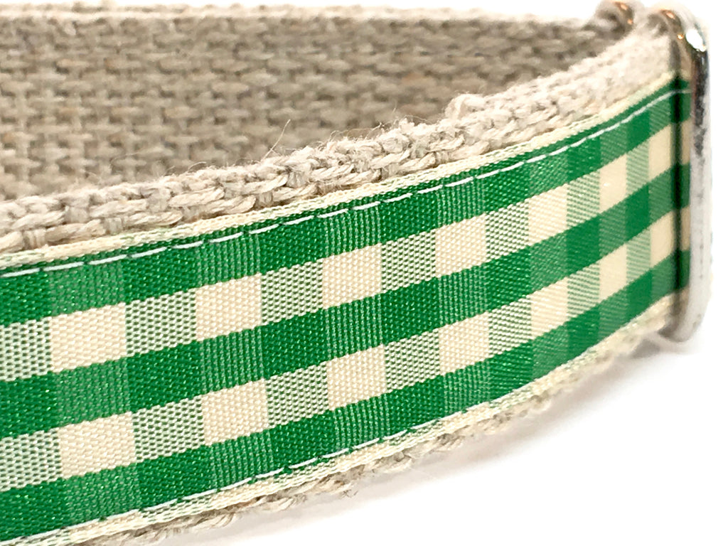 Gingham Green/ Ivory 1""