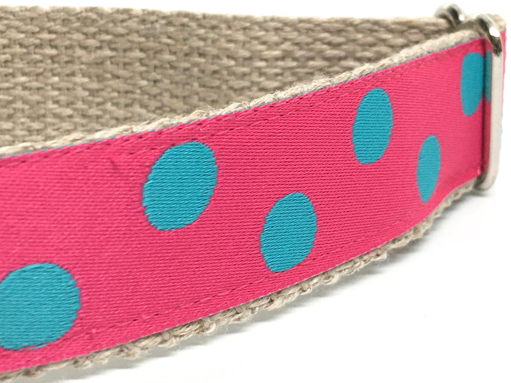 Dotty Pink/ Turquoise 1""