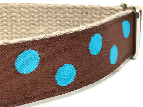 Dotty Brown/ Turquoise 1""