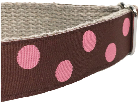 Dotty Brown/ Pink 1""