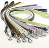 dog handmade leather leash pets dogs puppy black white green blue brown pink wedding birthday