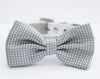 Gray dog bow tie, Wedding dog collar