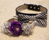 Purple Silver collar- purple wedding accessory