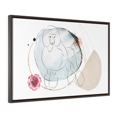 Dog, Wall Art Prints, Printed on canvas, Line Drawing, Minimalist Print, Horizontal Framed Premium Gallery Wrap Canvas