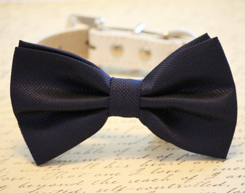 Navy Dog Bow Tie, Chic Wedding, Wedding accessory, Navy Blue