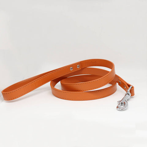 Apricot Orange dog Leash, Pet Wedding accessory, Apricot Orange Leather leash, Custom leash