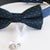 Navy blue bow tie collar , dog of honor ring bearer adjustable handmade XS to XXL leather collar bow, Puppy, Proposal, high quality