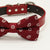 Burgundy dog bow tie collar, Red leather dog collar, Black, Gray, Brown, Ivory, Orange, copper, Gray dog collar, Boy dog collar, burgundy