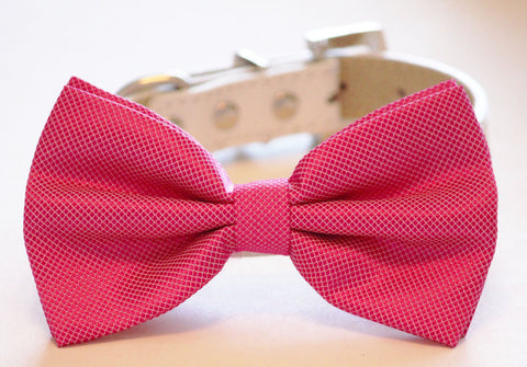 Barbie Pink Dog Bow Tie, Wedding Accessory, Dog Birthday, Pink Lovers