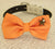 Orange Dog Bow tie, Bow attached to dog collar, beach, Dog birthday gift, Pet wedding accessory, Polka dots bow, Orange, Beach Star, Pearl - LA Dog Store  - 2