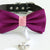 Berry blush bow tie collar Leather collar dog of honor ring bearer adjustable handmade XS to XXL collar and bow, Puppy bow collar, Proposal