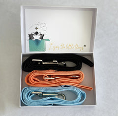 3 Dog Leashes, Black Blue Orange Pink leash, Dog Lover gift, Dog Leash, Custom card, Enjoy, Miss you, Love you birhtday card
