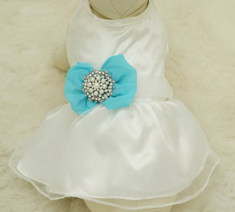 Blue Dog Dress,  Pet wedding accessory