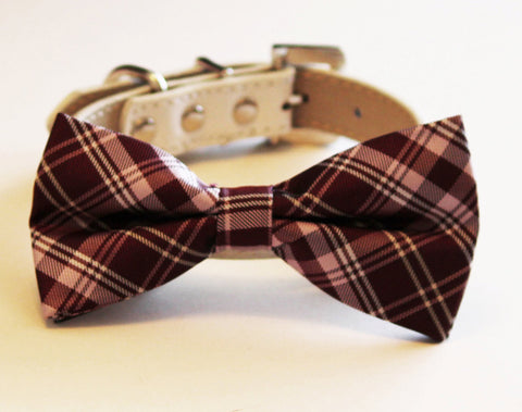 Brown Dog Bow Tie Wedding Collar, dog birthday, brown wedding ideas