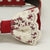Red Lace Dog Bow Tie Collar, Red leather dog collar,Handmade
