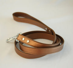 Pet Leash, Copper, Pet accessory, Copper Leather leash , Wedding dog collar
