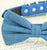 Denim dog Bow tie, Fashion 2015, bow attached to blue collar,Wedding accessory, some thing blue, Dog birthday gift, dog lovers, dog collar - LA Dog Store  - 2