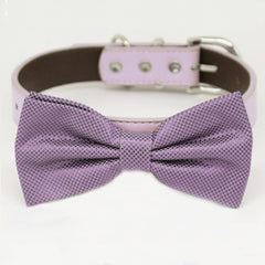 Dusty lavender bow tie collar XS to XXL collar and bow tie, adjustable, Puppy bow tie, handmade, dog of honor ring bearer