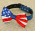 4th of July Dog bow tie. Bow attached to dog collar. American Flag. Dog collar, 4th july. pet accessory. dog lovers. USA Flag - LA Dog Store  - 2