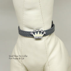 Dog Cat Collar, Leather, Charm, XS Collars,  Puppy collars, Cat Collar, kitten collar, Charm crown