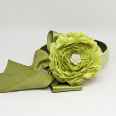Green Flower dog collar, handmade flower collar, Dog of honor, proposal or every day use, M to XXL collar
