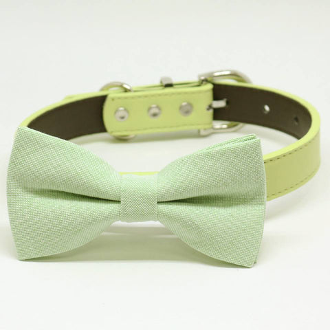 Green dog bow tie collar, Pet Wedding, birthday gift, Color of the year , Wedding dog collar