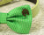 Green dog bow tie collar- Pet accessory- Greenery- Good Luck