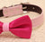 Hot pink dog bow tie, Bow tie attached to dog collar, Pet wedding accessory, Polka dots bow tie, dog collar, dog birthday gift, Pink lovers - LA Dog Store  - 2