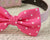 Hot Pink dog bow tie collar - Leather collar- Pink lovers - Polka dots